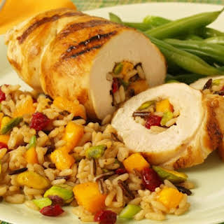 Chicken with Spiced Mango Rice.
