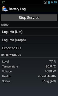 Battery Log - screenshot thumbnail