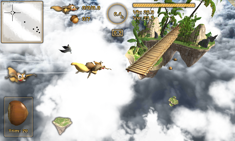 Crazy Flying Squirrel Free - screenshot