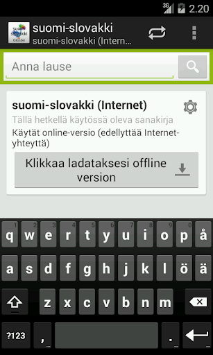 Finnish-Slovak Dictionary