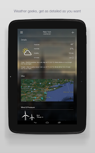 Yahoo Weather app (apk) free download for Android/PC/Windows screenshot