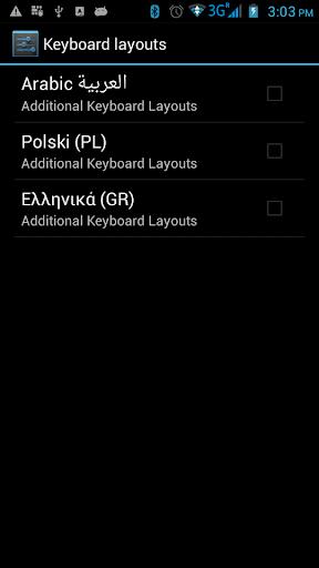 Additional Keyboard Layouts