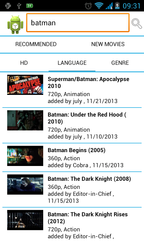MovieTube HD: Watch Movies - screenshot