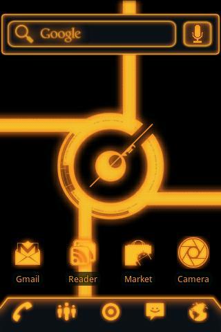 ADW Theme Glow Legacy Evil Pro- screenshot