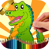 Coloring Book Crocodile