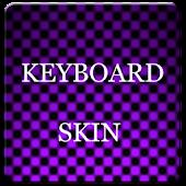Violet Carbon Keyboard Skin
