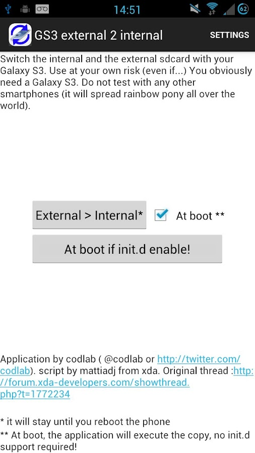 Root External 2 Internal SD - screenshot