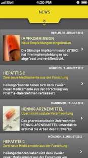 GELBE LISTE PHARMINDEX Screenshot