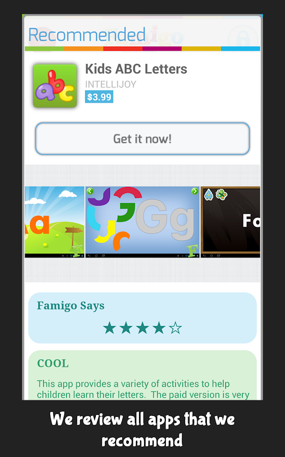 Famigo: Kid Lock, Family Games - screenshot