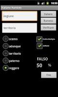 Screenshot of Italian Romanian Dictionary