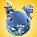 Cute 3D Smurfs HD Wallpaper icon