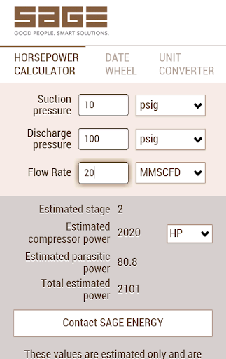HP Calculator by Sage Energy