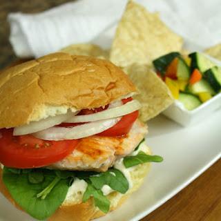 Simple Salmon Sandwich.