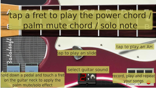 Power guitar HD - chords, guitar solos, palm mute  screenshots 3