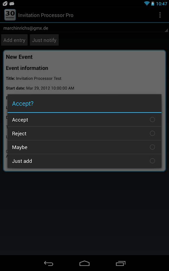 Invitation Processor Pro - screenshot