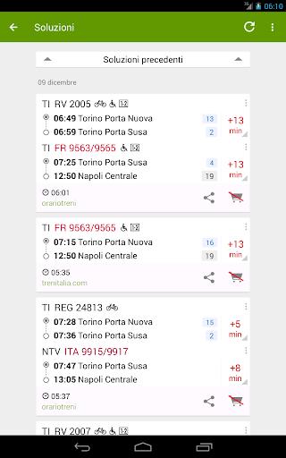 Train Timetable Italy 8.16.4 screenshots 11