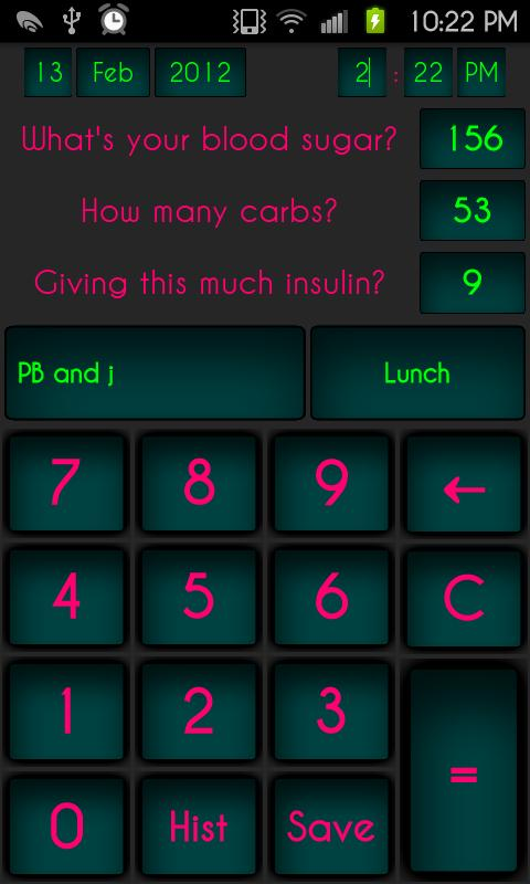 D.O.T. Beta (Insulin Calc)- screenshot