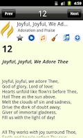 Screenshot of Advent Hymnal PRO
