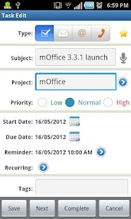 mOffice - Outlook sync - screenshot thumbnail