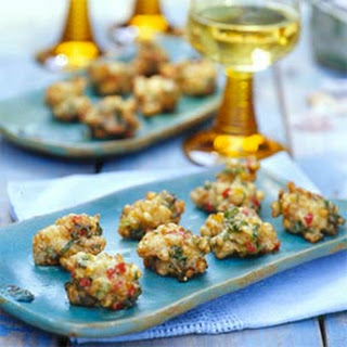 Clam and Corn Fritters.