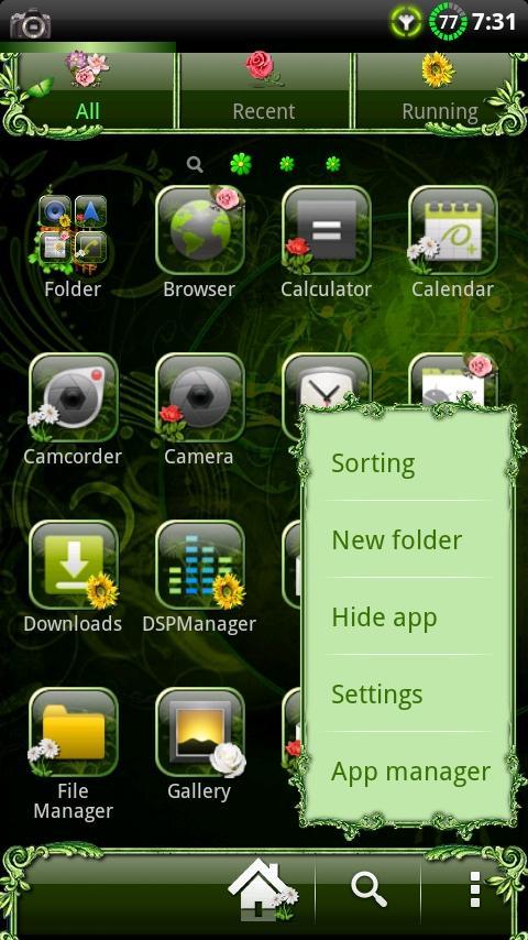 Nature v2 GO Launcher EX Theme- screenshot