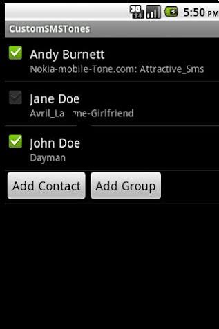 Custom SMS Tones Screenshot