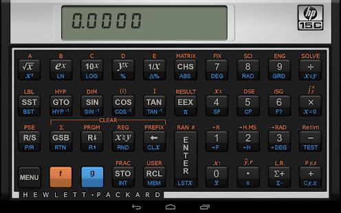 HP 15C Scientific Calculator - Apps on Google Play