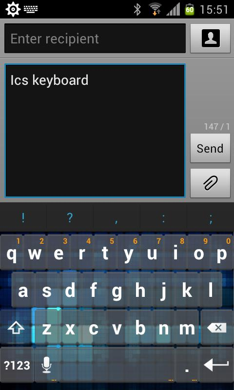 Cube Keyboard Skin - screenshot