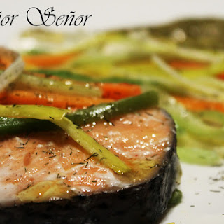 Salmon and Vegetables in an Envelope.