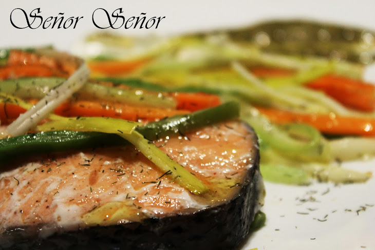 Salmon and Vegetables in an Envelope Recipe