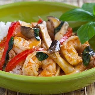 10 minute Shrimp Curry.