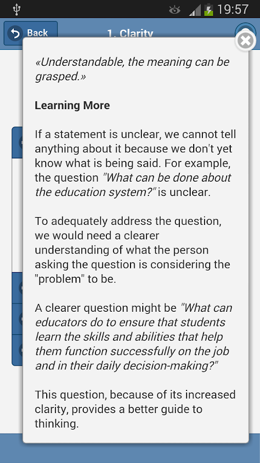 Critical Thinking Basic- screenshot