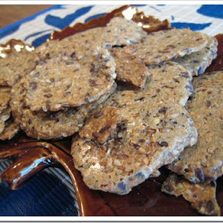 Gluten Free Flax Poppy Crackers.
