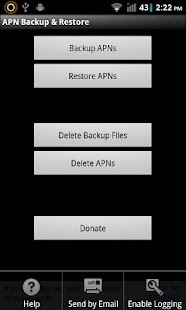 APN Backup & Restore Screenshot
