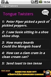 Tongue Twisters- screenshot thumbnail
