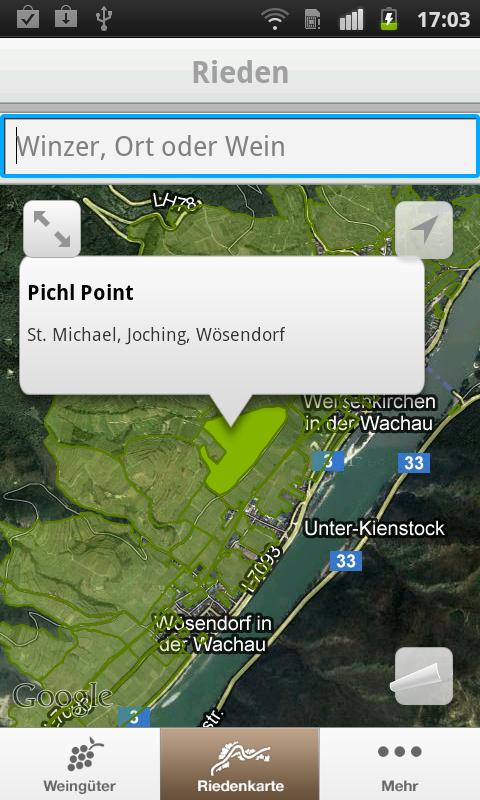 myWachau - screenshot
