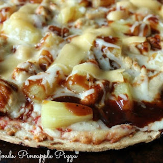 Grilled Chicken Gouda Pineapple Pizza.