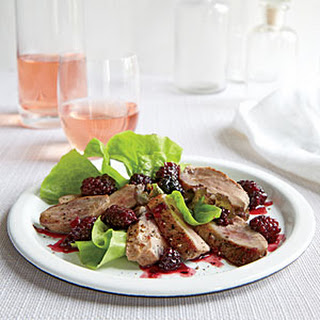 Duck Breasts with Blackberry-Port Sauce.