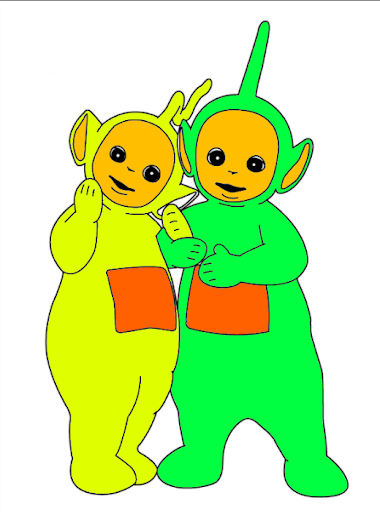 COLORING BOOK TELETUBBIES