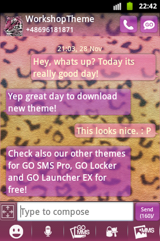 GO SMS Theme Panther Buy