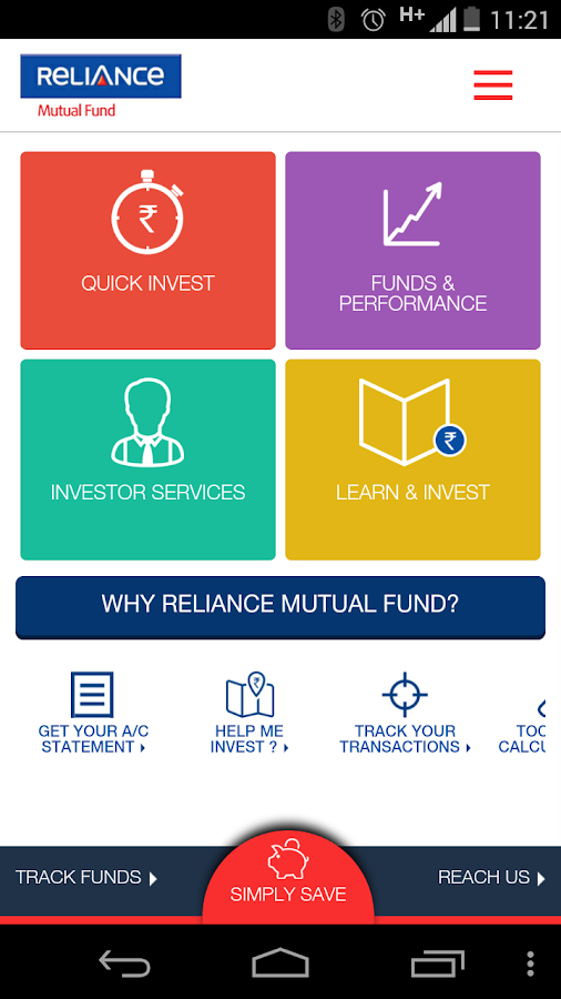 Reliance MutualFund- screenshot