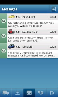 TomTom WEBFLEET Mobile - screenshot thumbnail