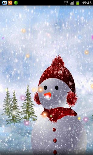 Wooden Snowmen Xmas HD LWP