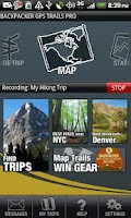 Screenshot of Backpacker GPS Trails Pro