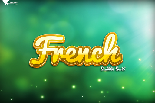 French Words Bubble Bath Game