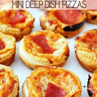 Mini Deep Dish Pizzas.
