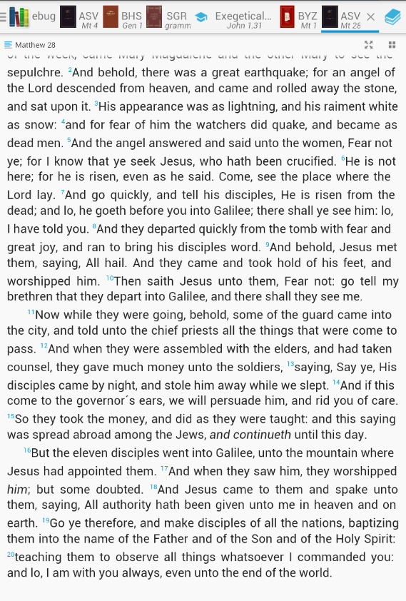 Bible lexicon (bible study) - screenshot
