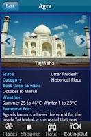 Screenshot of India Tour Guide