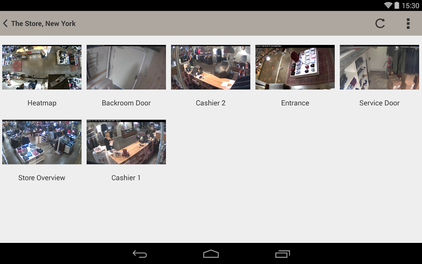 Screenshots of AXIS Viewer for Hosted Video for Android