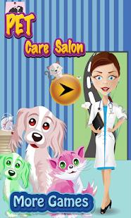 宠物护理沙龙游戏的女孩